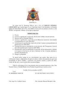 Cabildo General 2017 Citación